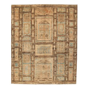 Farahan original ziegler  farahan hand geknoopt tapijt 297x247 cm  vloerkleed