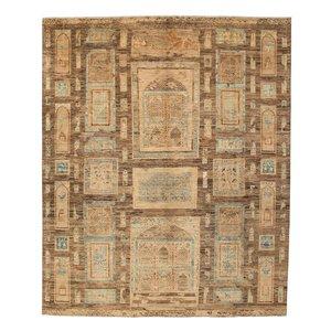 Farahan Oushak Hand knotted 9'7x8'1 ziegler rug  farahan Wool Rug 297x247 cm