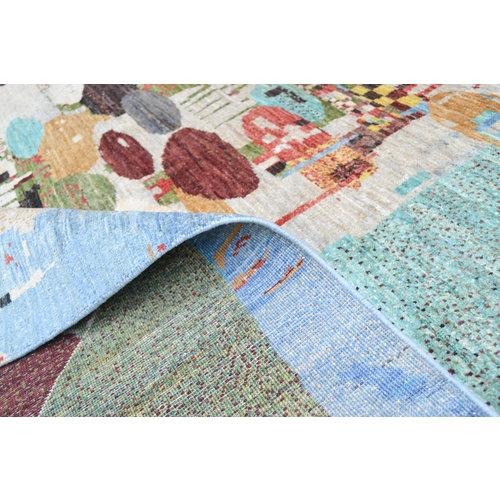 Handgeknoopt Modern Art Deco tapijt 295x212 cm  oosters kleed vloerkleed
