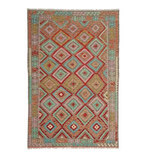 9'84x6'72 exclusive Sheep Wool Hand woven Multi color Afghan kilim Carpet Rug