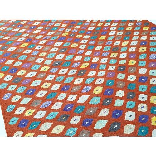 exclusive  Vloerkleed Tapijt Kelim 300x199 cm Kleed Hand Geweven Kilim