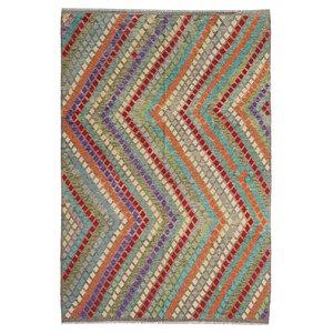 exclusive  Kelim Teppich 294x209 cm afghan kilim teppich