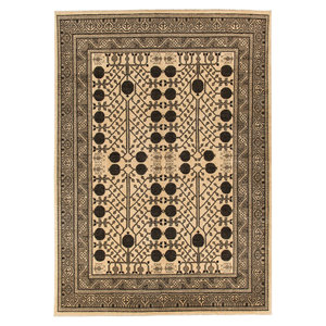 10'2x8'0 feet afghan rug aqcha hand knotted  311x245 cm