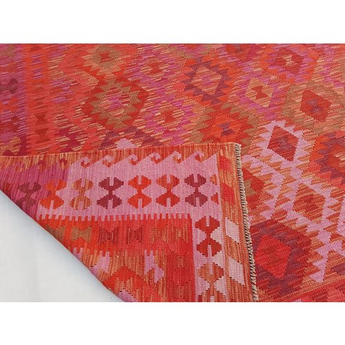 exclusive  Vloerkleed Tapijt Kelim 294x207 cm Kleed Hand Geweven Kilim