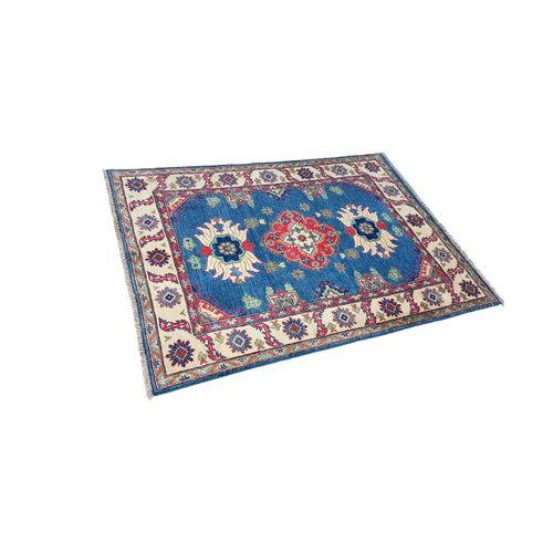 Hand knotted  5'3x4' wool kazak area rug  163x122 cm  Oriental carpet