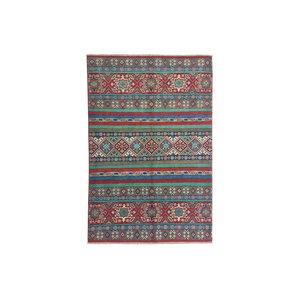 Hand knotted  5'8x4'1 wool kazak area rug  178x125 cm  Oriental carpet