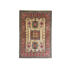 Hand knotted  5'9x4'2 wool kazak area rug  180x130 cm  Oriental carpet