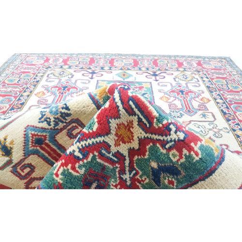 Handgeknoopt kazak tapijt 180x130 cm  oosters kleed vloerkleed