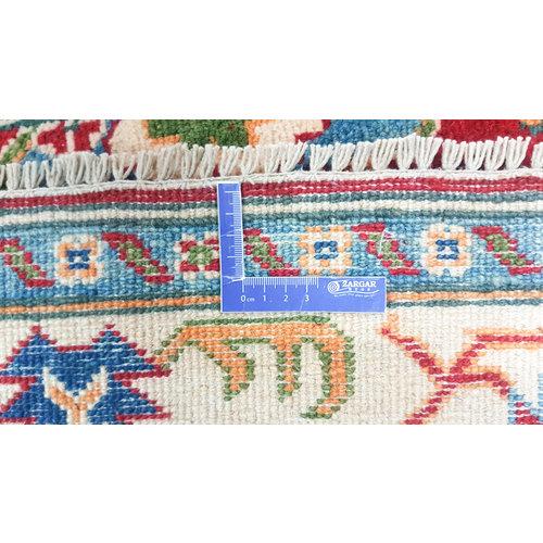 Hand knotted  6'1x3'8 wool kazak area rug  187x118 cm  Oriental carpet