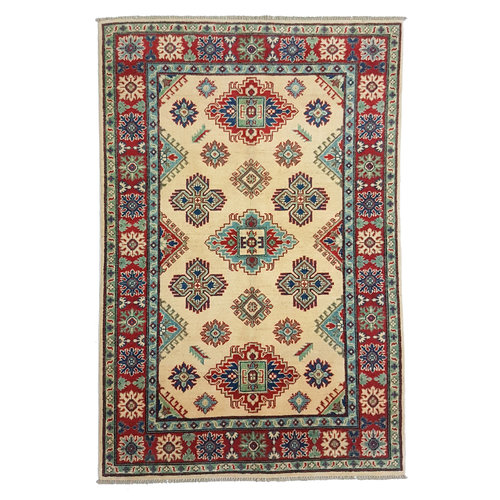 Handgeknoopt kazak tapijt 183x122 cm  oosters kleed vloerkleed