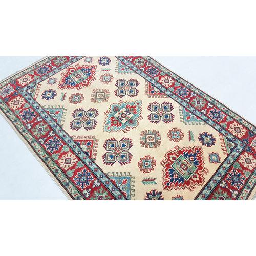 Hand knotted  6'0x4'0 wool kazak area rug  183x122 cm  Oriental carpet
