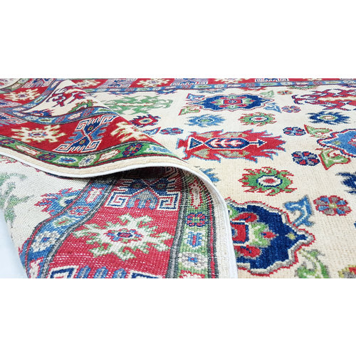 Handgeknoopt kazak tapijt 186x121 cm  oosters kleed vloerkleed