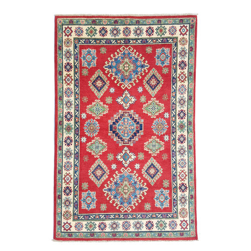 Handgeknüpft wolle kazak teppich  183x119 cm   Orientalisch teppichboden