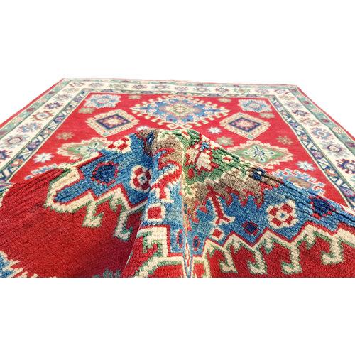 Hand knotted  6'x3'9 wool kazak area rug 183x119 cm  Oriental carpet