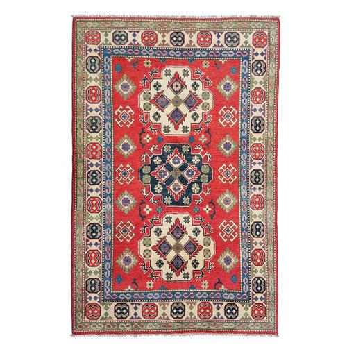 Handgeknoopt kazak tapijt 186x127 cm  oosters kleed vloerkleed