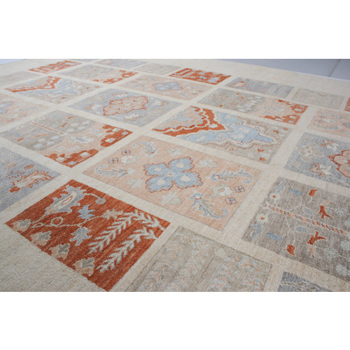 Hand knotted 11'7x8'2 Modern  Art  Wool Rug 358x252 cm  Abstract Carpet