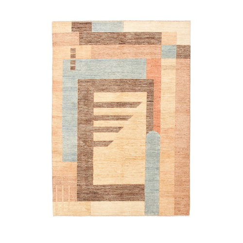 Hand knotted 7'8x5'5 Modern  Art  Wool Rug 240x170 cm  Abstract Carpet