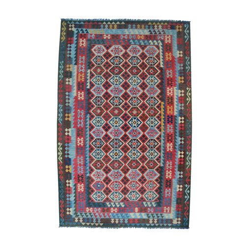 15'91x10'13 exclusive Sheep Wool Hand woven Multi color Afghan kilim Carpet Rug
