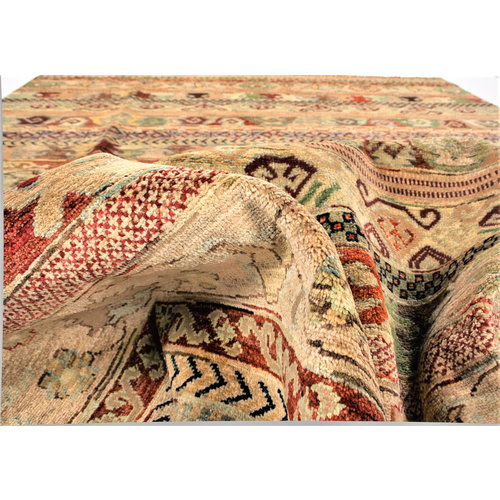 Handgeknüpft Modern Art 298x203 cm Abstrakt Wolle Teppich