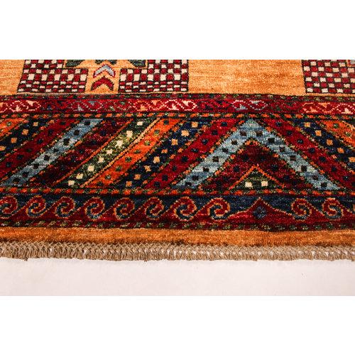 Hand knotted 8'1x5'9 super fine oriental kazak rug 248x182 cm  Abstract Carpet