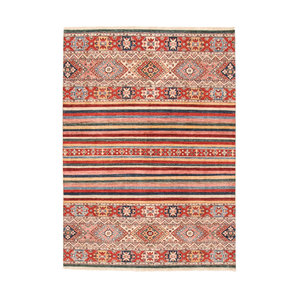 Hand knotted 7'7x5'6 Modern  Art  Wool Rug 236x171 cm  Abstract Carpet