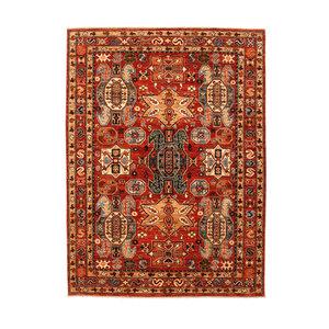 Hand knotted 7'8x5'7 super fine oriental kazak rug 238x174 cm  Abstract Carpet
