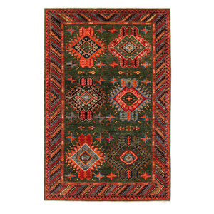 Hand knotted 8'3x5'5 super fine oriental kazak rug 253x169 cm  Abstract Carpet
