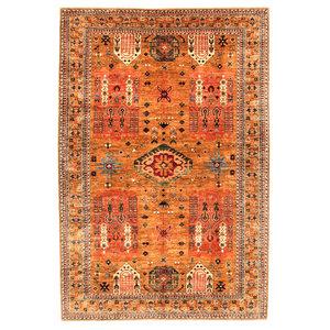 Hand knotted 9'7x6'4 super fine oriental kazak rug 297x198 cm  Abstract Carpet