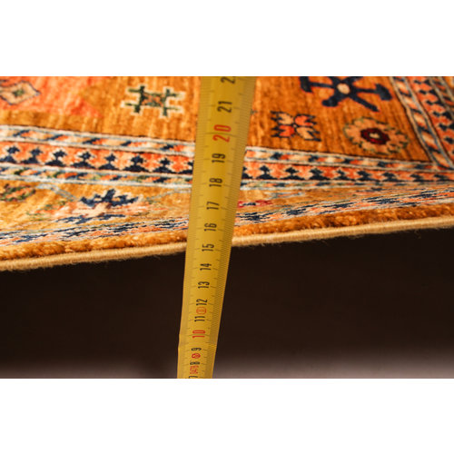 Hand knotted 9'7x6'4 super fine oriental kazak rug 297x198 cm  Abstract Carpet