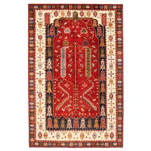 Hand knotted 9'8x6'4 super fine oriental kazak rug 300x197 cm  Abstract Carpet