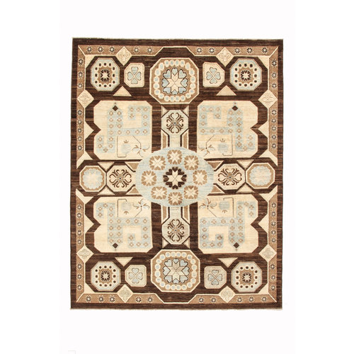 Hand knotted 8'0x6'2 ziegler rug  farahan Wool Rug 244x192 cm  Abstract Carpet