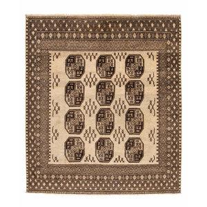 afghan aqcha tapijt hand geknoopt 225x197 cm
