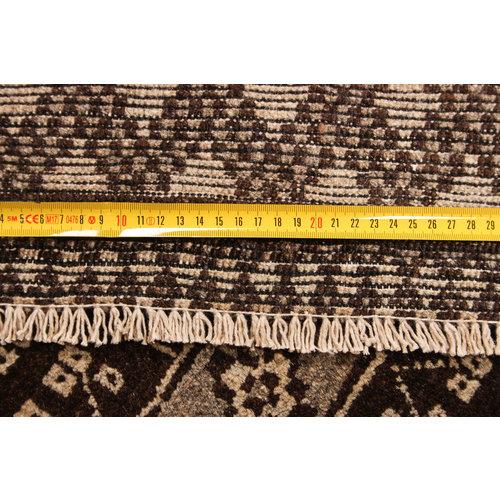 7'3x6'4 feet afghan rug aqcha hand knotted  225x197 cm
