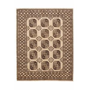 7'9x6'3 feet afghan rug aqcha hand knotted  242x195 cm
