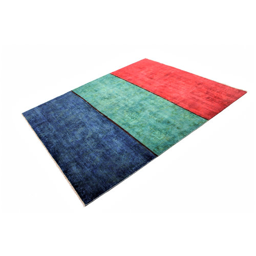 Handgeknoopt Modern  tapijt 232x195 cm  oosters kleed vloerkleed