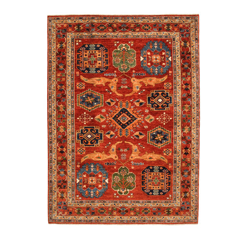 Hand knotted 9'4x6'8 super fine oriental kazak rug 288x208 cm  Abstract Carpet