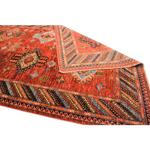 Hand knotted 9'6x6'6 super fine oriental kazak Area Rug 294x204 cm  Carpet