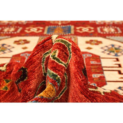 Hand knotted super fine kazak Ghazny Wool 297x202 cm Area Rug  Carpet 9'7x6'6 ft
