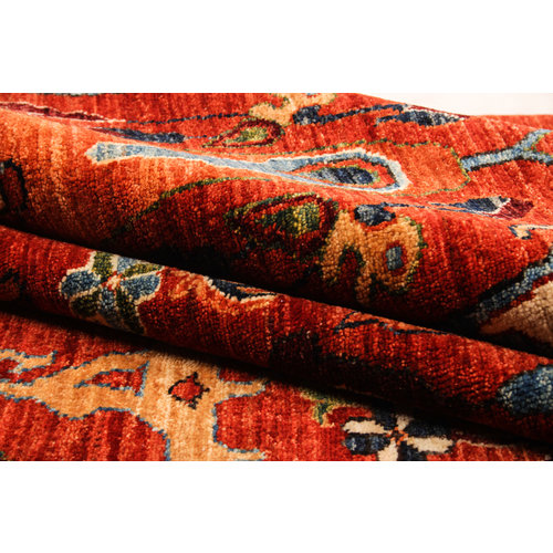 Hand knotted super fine Red kazak Sheep Wool 284x208cm Area Rug Carpet 9'3x6'8ft