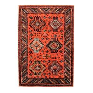 super fein oriental kazak teppich 293x202 cm Abstrakt Wolle Handgeknüpft Teppich