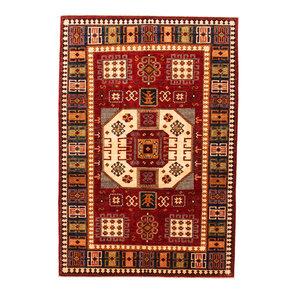 super fein oriental kazak teppich 294x201 cm Abstrakt Wolle Handgeknüpft Teppich
