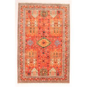 super fein oriental kazak teppich 301x198 cm Abstrakt Wolle Handgeknüpft Teppich