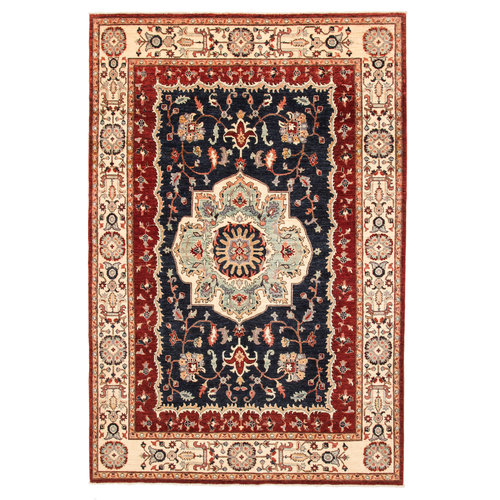 super fijn oriental kazak vloerkleed  Handgeknoopt  Tapijt 295x200 cm