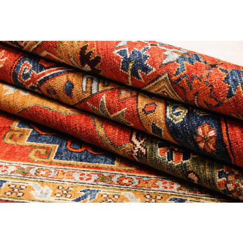 Hand knotted super fine kazak Ghazny Wool 294x206 cm Area Rug Carpet 9'6x6'7 ft
