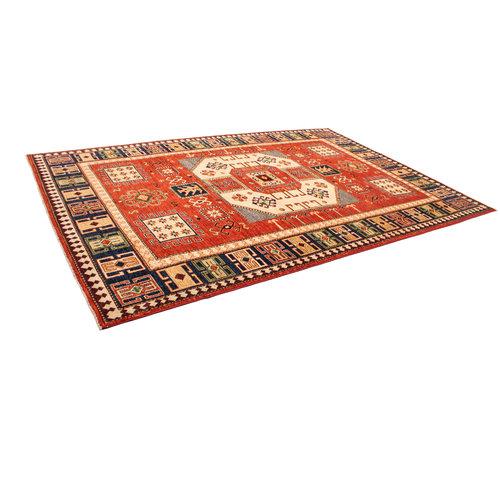 super fein oriental kazak teppich 300x204 cm Abstrakt Wolle Handgeknüpft Teppich