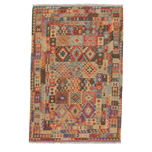 9'84x6'52 exclusive Sheep Wool Handwoven Multicolor Afghan kilim Area Rug Carpet
