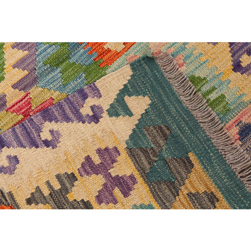 exclusive  Vloerkleed Tapijt Kelim 127x81 cm Kleed Hand Geweven Kilim