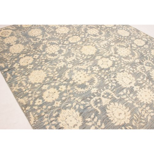 Hand knotted 8'x6'4 ft Modern gray Sheep Wool Rug 245x196 cm Area rug Carpet