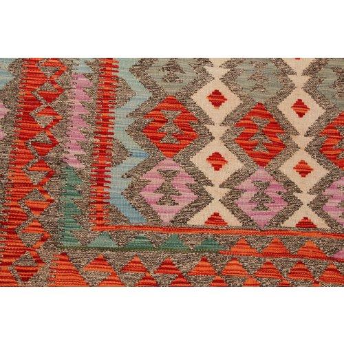 exclusive  Vloerkleed Tapijt Kelim 241x172 cm Kleed Hand Geweven Kilim