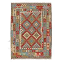 exclusive Kelim Teppich 203x153 cm afghan kilim teppich